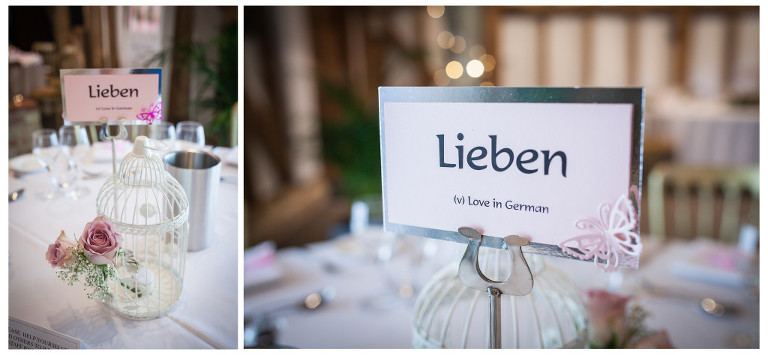 This Is A Cool Idea Using The Word Love In Different Languages For Table Names