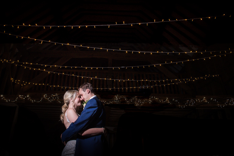 Creative festoon light portrait