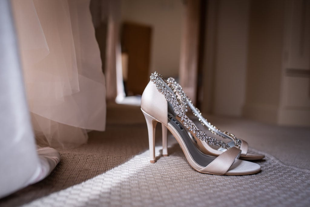 diamond shoes for the bride