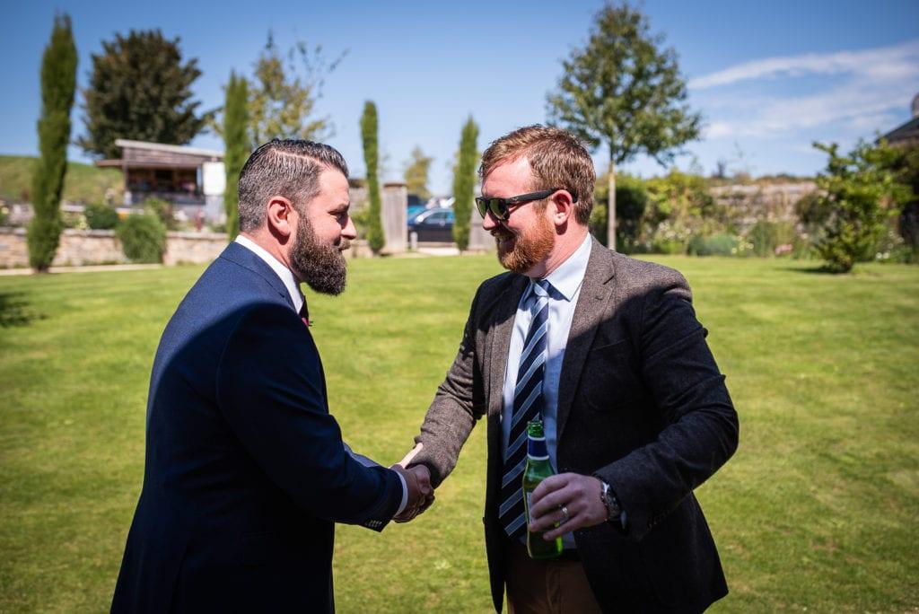 symondsbury estate wedding dorset guest arrivals