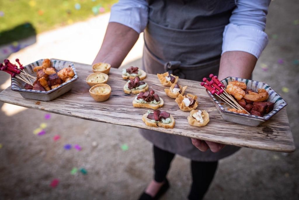 symondsbury estate wedding dorset canapés