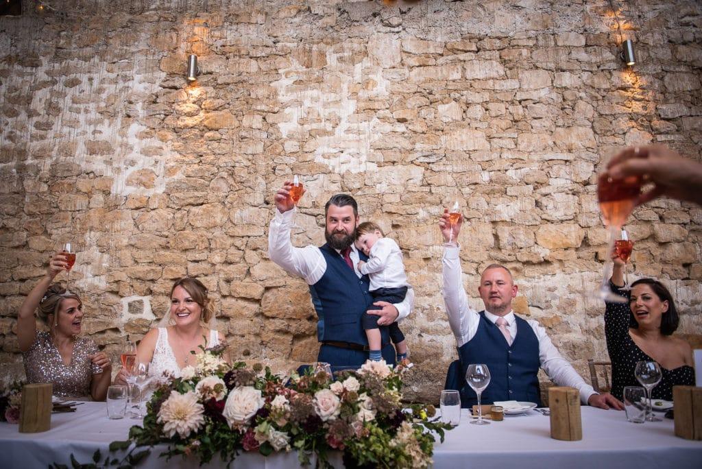 groom speech toasting