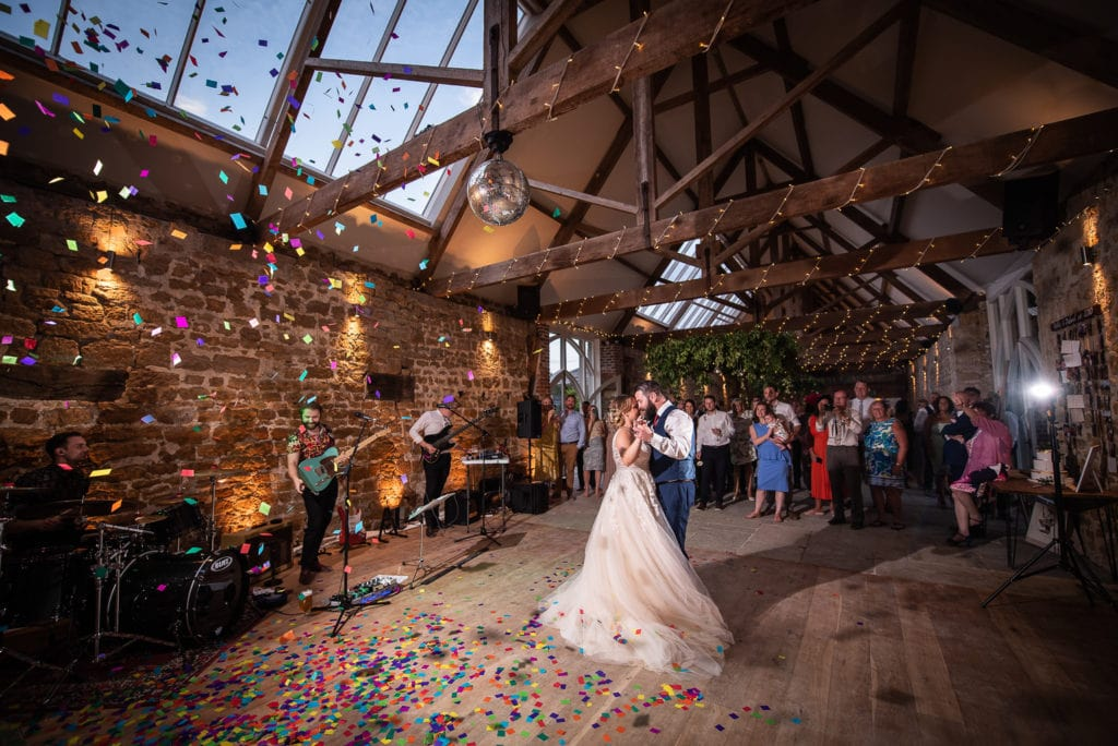 first dance with confetti