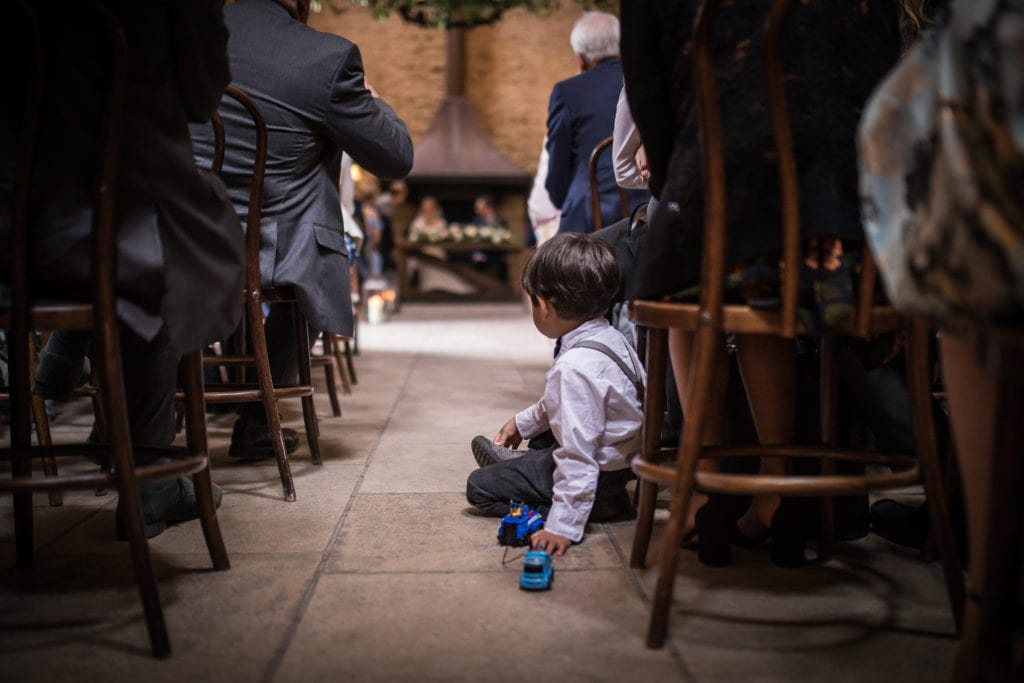 stone barn wedding ceremony