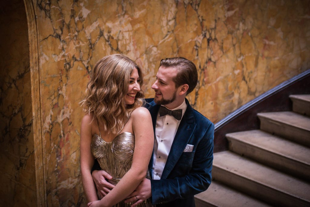 home house bride and groom portrait